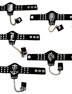 baratos Acessórios Cosplay Anime-Jóias Inspirado por Attack on Titan Fantasias Anime Acessórios para Cosplay Bracelete Anél PU Leather Liga Homens Mulheres novo quente