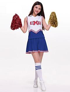 Cheerleader-asut Asusteet Naisten Suoritus Polyesteri Kirjailu 2 osainen Hihaton Korkea Hame / Ylä- 73-77cm