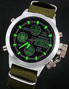billige Læder-Herre Quartz Japansk Quartz Armbåndsur Alarm Kalender Kronograf Vandafvisende LCD Læder Bånd Vedhæng Brun Grøn
