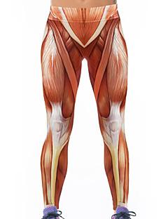 Damen Polyester Elasthan Bedruckt Legging
