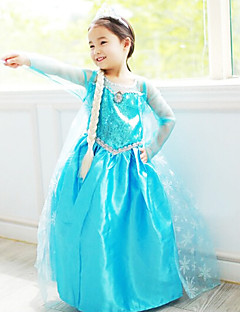 Princess Fairytale Cosplay Costume Movie Cosplay Blue Dress Halloween New Year Chiffon