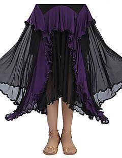 ボールルームダンス チュチュスカート 女性用 演出 スパンデックス ドレープ 1個 スカート