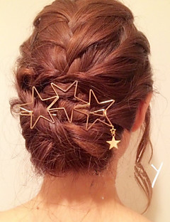 Women's Brass Hair Clip,Metallic Elegant Spring/Fall All Seasons