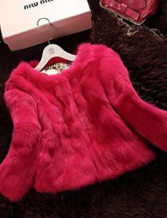 Women Rabbit Fur Outerwear , Lined