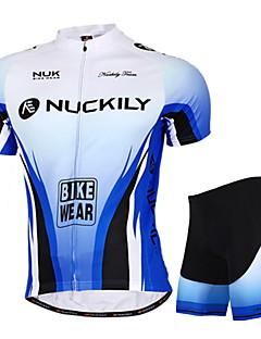 Nuckily Sykkeljersey med shorts Unisex Kort Erme Sykkel Jersey Shorts Klessett TopperVanntett Ultraviolet Motstandsdyktig Vanntett