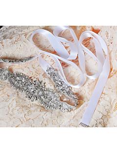 levne Svatební stuhy-Svatební Večírek Na den Šerpa With Křišťály Korálky Aplikace Perly Flitry