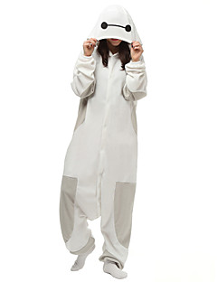 billige Kigurumi-Kigurumi-pysjamas Hvit Maks Tegneserie Onesie-pysjamas Kostume Polar Fleece Syntetisk Fiber Hvit Cosplay Til Pysjamas med dyremotiv