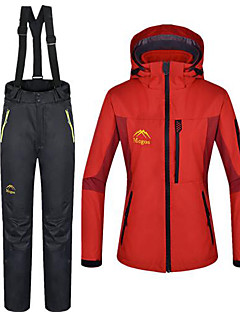 Dames 3-in-1 jacks Buiten Winter waterdicht Houd Warm 3-in-1 jacks Winter Fleece jacks / Fleecetruien Jack Winterjack Pakken Kleding