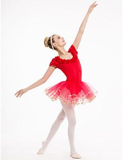 お買い得  ベーシックダンスウェア-バレエ チュチュ 女性用 子供用 演出 訓練 コットン チュール ライクラ 1個 チュチュ