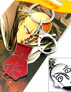 Mer Tilbehør Inspirert av En Punch Man Cosplay Anime Cosplay Tilbehør Nøkkelring Rød / Sølv Legering Mann