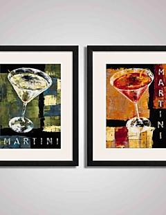 Sille Liv Højtid Landskab Mad/ Drikke abstrakt fritid Indrammet Kunsttryk Indrammet Lærred Indrammet Sæt Vægkunst,PVC Materiale Med Ramme