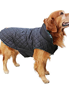 Dog Coat Vest Winter Clothing Dog Clothes Keep Warm Reversible Plaid/Check Beige Brown Red Green