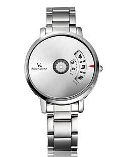 billige Høj kvalitet-V6 Herre Quartz Unik Creative Watch Armbåndsur Hot Salg Rustfrit stål Bånd Vedhæng Sølv