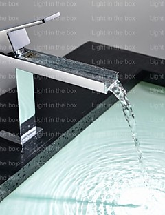 billige Foss-Badekarskran - Moderne Krom Badekar Og Dusj Keramisk Ventil Bath Shower Mixer Taps / Enkelt Håndtak Et Hull
