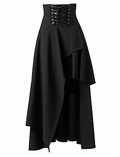 Women's Going out Asymmetrical Skirts,Sexy Street chic A Line Layered Solid Fall