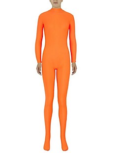 Zentai Suits Ninja Zentai Cosplay Costumes Orange Solid Leotard/Onesie Zentai Spandex Lycra Unisex Halloween