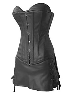 cheap Lolita Fashion Costumes-Punk Lolita Dress Corset Cosplay Black Solid
