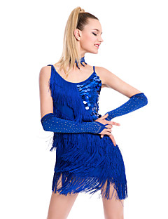 Shall We Latin Dance Dresses Women Performance Sequined Dress
