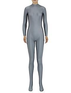 Zentai Suits Ninja Zentai Cosplay Costumes Gray Solid Leotard/Onesie Zentai Spandex Lycra Unisex Halloween