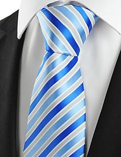 billige Slips og sløyfer-Herre Fest Kontor Grunnleggende Slips Stripet Bomull Rayon Polyester