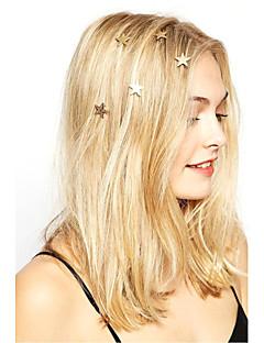 Women Fashion Casual Stars Pattern Spiral Hairpin Rhinestone Pearl Flowers Spring Hairpin   6 Piece