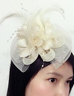 preiswerte Hochzeitsaccessoires-Tüll Feder Netz Fascinatoren 1 Hochzeit Besondere Anlässe Kopfschmuck