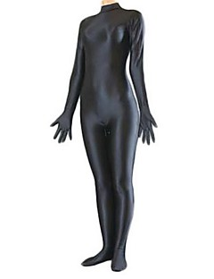 Zentai Suits Morphsuit Ninja Zentai Cosplay Costumes Green Yellow Dark Green Brown Ink Blue Solid Leotard/Onesie Zentai CatsuitSpandex