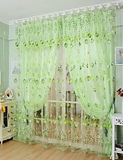 Stanglomme Et panel Window Treatment Land Stue Polyester Materiale Gardiner Skygge Hjem Dekor For Vindu