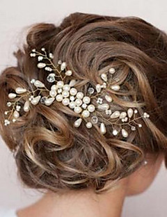 cheap Homecoming 2018-Pearl Hair Combs with 1 Wedding / Special Occasion Headpiece