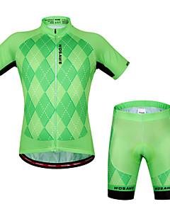 cheap Cycling Jersey & Shorts / Pants Sets-WOSAWE Cycling Jersey with Shorts Unisex Short Sleeves Bike Sleeves Jersey Shorts Top Clothing Suits Quick Dry Anatomic Design Breathable