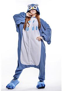 billige Kigurumi-Voksne Kigurumi-pysjamas Ugle Onesie-pysjamas Polar Fleece Blå Cosplay Til Damer og Herrer Pysjamas med dyremotiv Tegnefilm Festival / høytid kostymer