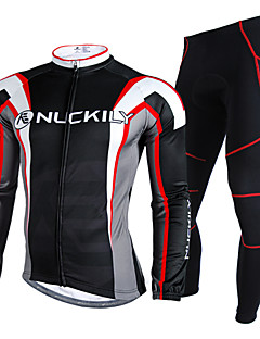 Nuckily Cycling Jersey with Tights Men's Long Sleeves Bike Clothing Suits Waterproof Thermal / Warm Rain-Proof Reflective Strips