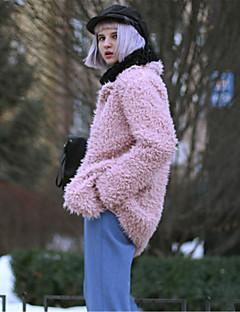 Χαμηλού Κόστους Ξεπούλημα-Γυναικεία Παλτό Εξόδου Βίντατζ - Μονόχρωμο Ψεύτικη Γούνα Φαρδιά