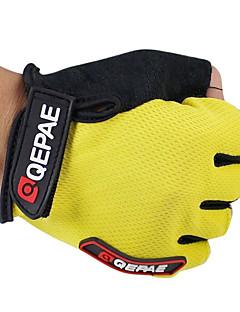 billiga Cykling-QEPAE Aktivitet/Sport Handskar Cykelhandskar Håller värmen Andningsfunktion Slitsäker Anti-sladd Skyddande Stötsäker Fingerlösa Läder