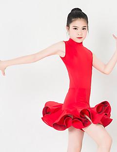 Lasten tanssiasut Hameet Lasten Suoritus Elastaani Polyesteri Röyhelöt 1 Kappale Hihaton Leninki