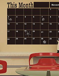 Χαμηλού Κόστους Αυτοκόλλητα Τοίχου Μαυροπίνακας-Κινούμενα σχέδια / Λέξεις & Αποσπάσματα / Ρομάντζο / Πίνακας Κιμωλίας / Μόδα / Διακοπών / Τοπίο / Σχήματα / Φαντασία Αυτοκολλητα ΤΟΙΧΟΥ