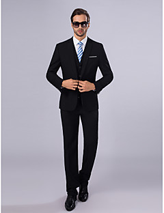 cheap Suits-Slim Fit Polyester Suit - Slim Notch Single Breasted One-button