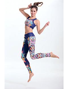 Mulheres Conjunto de Sutiã Esportivo com Calça Secagem Rápida Materiais Leves Redutor de Suor Suave Sutiã Esportivo Calças Leggings