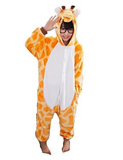 Kigurumi Pyjamas Sjiraff Kostume Oransje Kigurumi Trikot / Heldraktskostymer Cosplay Festival / høytid Pysjamas med dyremotiv Halloween