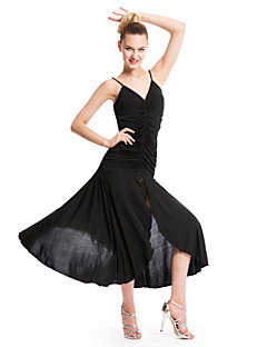 Budeme šaty klubovky&Sukně dámské spandex / polyester / elastický hedvábný satén křížový 1 ks černý / červený