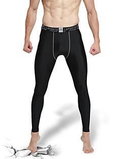 Heren Strakke hardloopbroek Fitnessleggings Sneldrogend Hoge Ademende Werking (>15,001g) Ademend Compressie Zweetafvoerend Fietsen