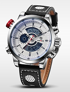 billige Luksus Ure-WEIDE Herre Armbåndsur Digital Watch Quartz Digital 30 m Vandafvisende Alarm Kalender Læder Bånd Analog-digital Vedhæng Sort - Sølv / Sort Hvid / Sølv / Rustfrit stål / Kronograf / LCD