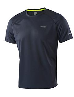 billiga Träning-, jogging- och yogakläder-Arsuxeo Herr Rund hals T-shirt för jogging - Ljusgul, Himmelsblå, Mörkgrå sporter T-shirt / Överdelar Kortärmad Sportkläder Snabb tork,