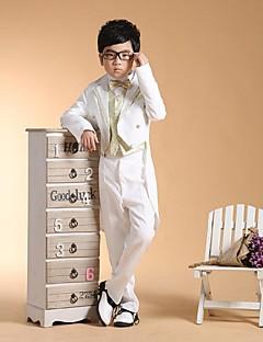 tanie Garnitury dla małych dróżbów-Gold Silver Bawełna Garnitur dla małego drużby - 6 Zawiera Marynarka Pas Kamizelka Koszula Spodnie Muszka