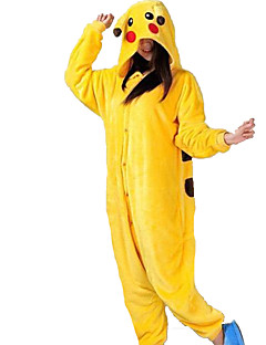 Kigurumi Pyjamas Pika Pika Kostume Gul Kigurumi Trikot / Heldraktskostymer Cosplay Festival / høytid Pysjamas med dyremotiv Halloween