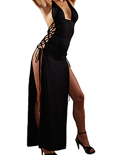 Women's Chemises & Gowns Nightwear,Sexy Polyester Spandex Black