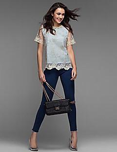 Γυναικεία Μεγάλα Μεγέθη Μπλούζα Μονόχρωμο Δαντέλα   Καλοκαίρι f25273dfd07
