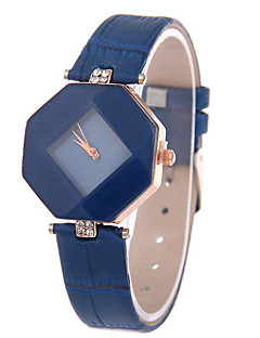 Women's Leather Band Analog Quartz Rhombus Case  Wrist Watch Fashion Watch Cool Watches Unique Watches Strap Watch