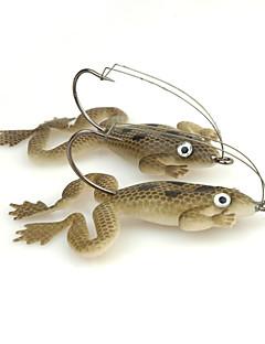 """4 個 ルアー カエル グリーン グレー グラム/オンス,60mm mm/2-3/8"""" インチ,ソフトプラスチック 海釣り スピニング 川釣り バス釣り ルアー釣り 一般的な釣り"""