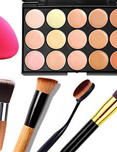 15 Concealer/kontur+ConcealerPulver Puff/Skønhedsblender Makeupbørster Våd Mat Glans Ansigt KropFugt Solbeskyttelse Dekning Blegende Olie